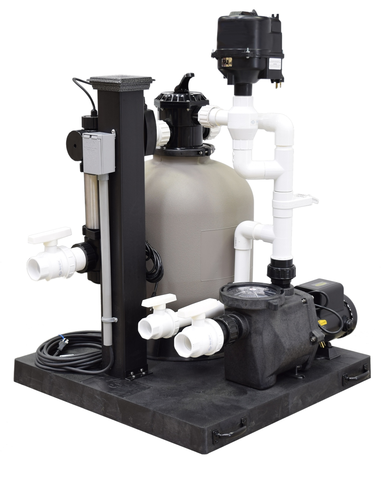 Smf3600 easypro skid mount filtration system 3600 gallon for Complete koi pond filtration systems